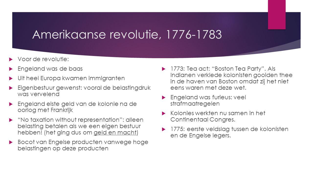 Amerikaanse revolutie, 1776-1783