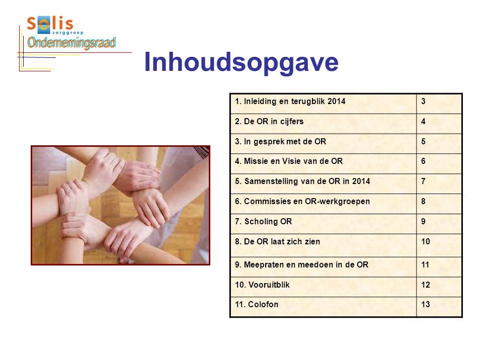 Ondernemingsraad Inhoudsopgave 1. Inleiding en terugblik 2014 3
