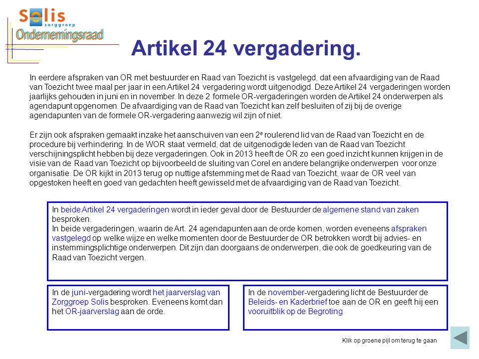 Ondernemingsraad Artikel 24 vergadering.