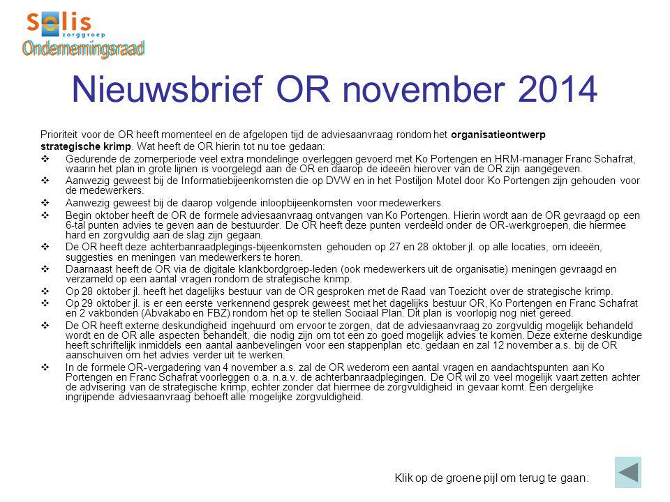 Nieuwsbrief OR november 2014