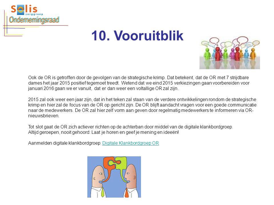 Ondernemingsraad 10. Vooruitblik