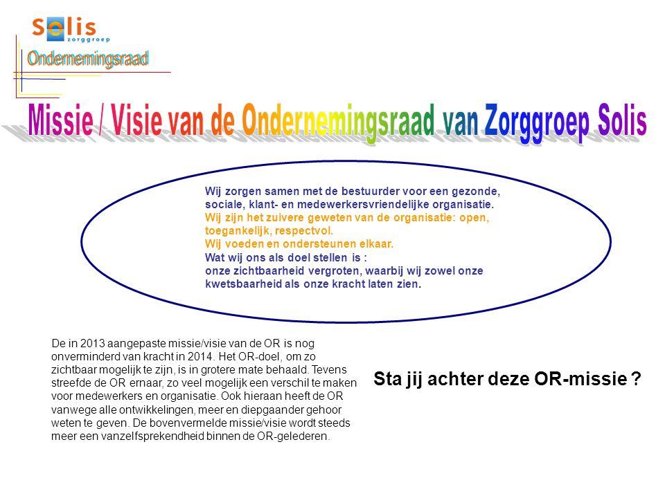 Missie / Visie van de Ondernemingsraad van Zorggroep Solis