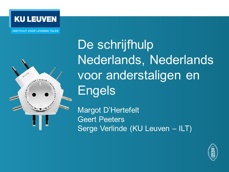 De schrijfhulp Nederlands, Nederlands voor anderstaligen en Engels
