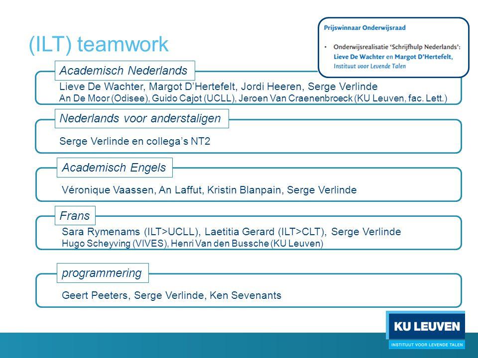 (ILT) teamwork Academisch Nederlands Nederlands voor anderstaligen