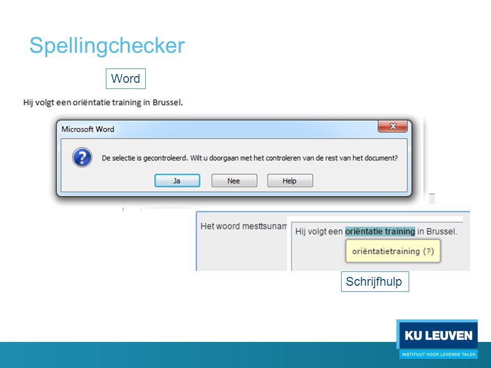 Spellingchecker Word Schrijfhulp
