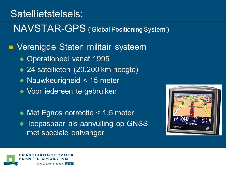 Satellietstelsels: NAVSTAR-GPS ('Global Positioning System')