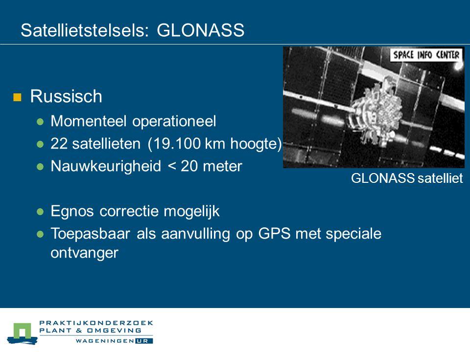 Satellietstelsels: GLONASS