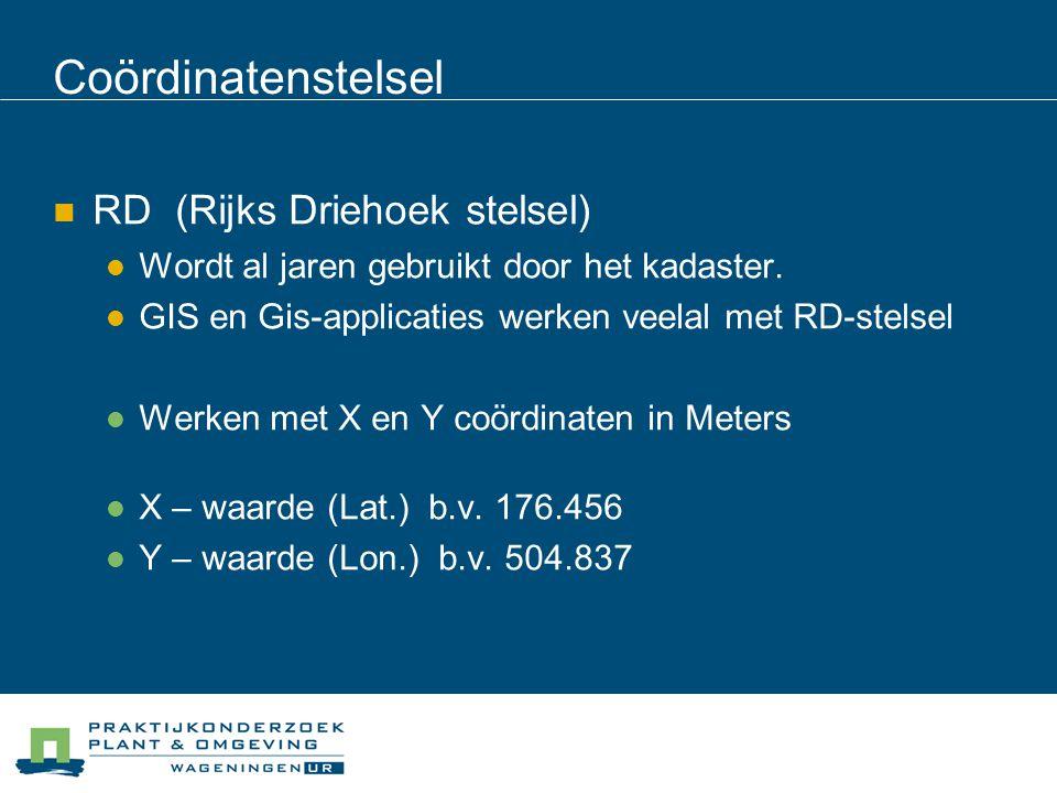 Coördinatenstelsel RD (Rijks Driehoek stelsel)