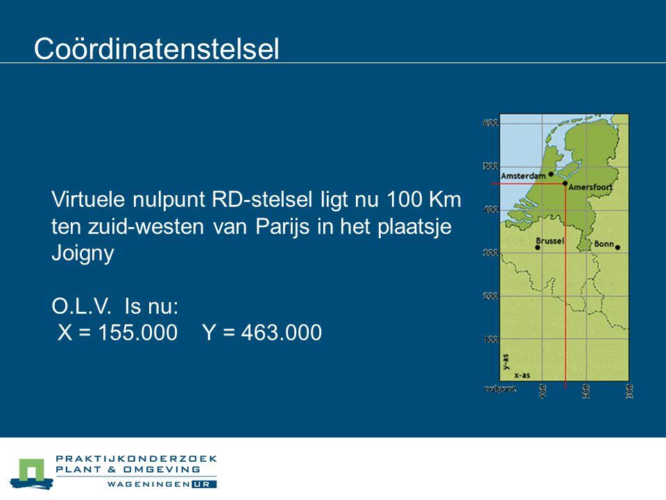 Coördinatenstelsel 17/04/2017. Virtuele nulpunt RD-stelsel ligt nu 100 Km ten zuid-westen van Parijs in het plaatsje Joigny.