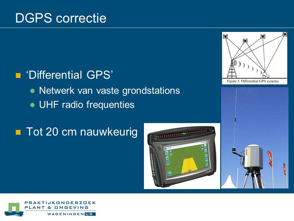 DGPS correctie 'Differential GPS' Tot 20 cm nauwkeurig