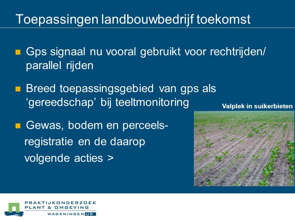 Toepassingen landbouwbedrijf toekomst