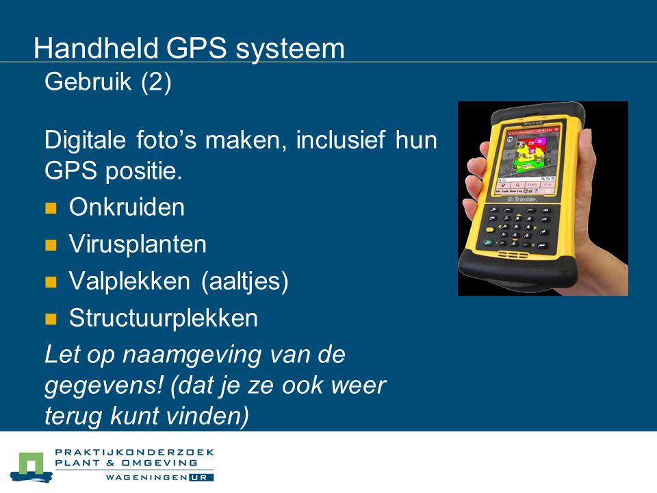 Handheld GPS systeem Gebruik (2)