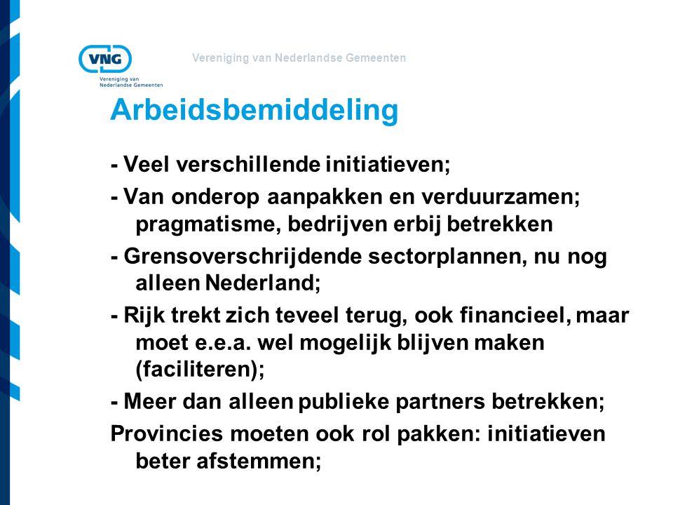 Arbeidsbemiddeling - Veel verschillende initiatieven;