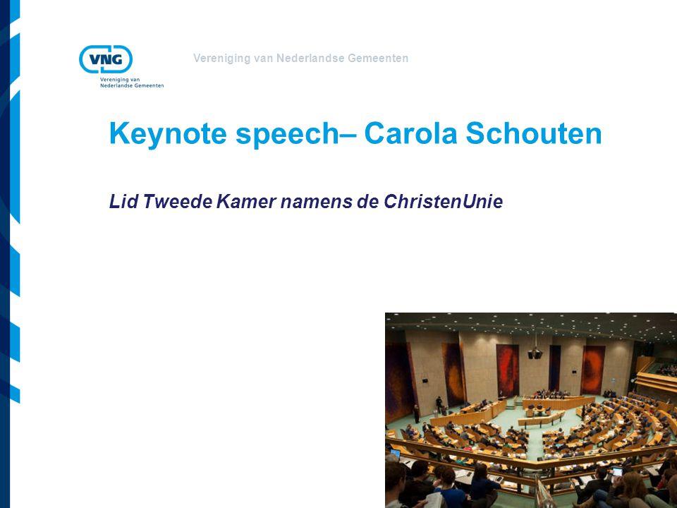 Keynote speech– Carola Schouten
