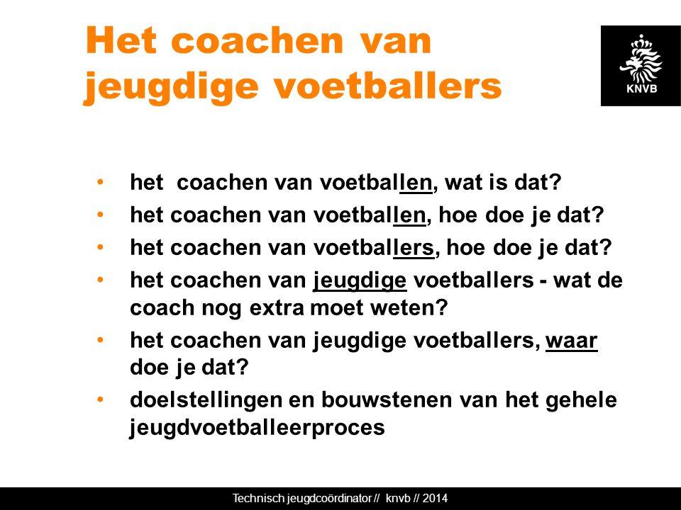 Het coachen van jeugdige voetballers