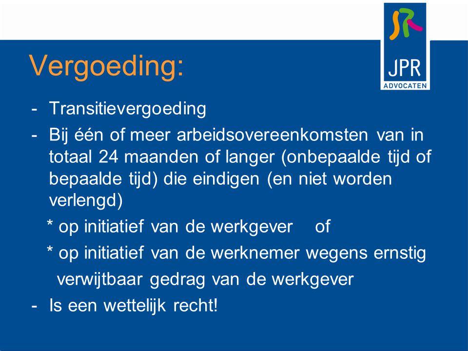 Vergoeding: Transitievergoeding