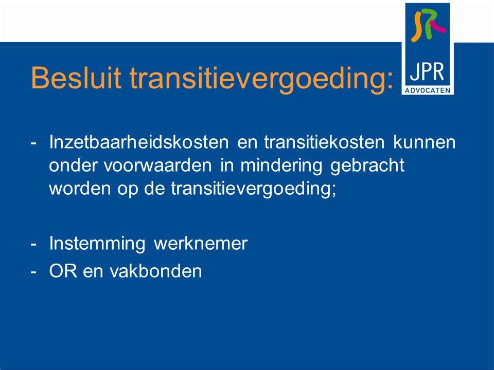 Besluit transitievergoeding: