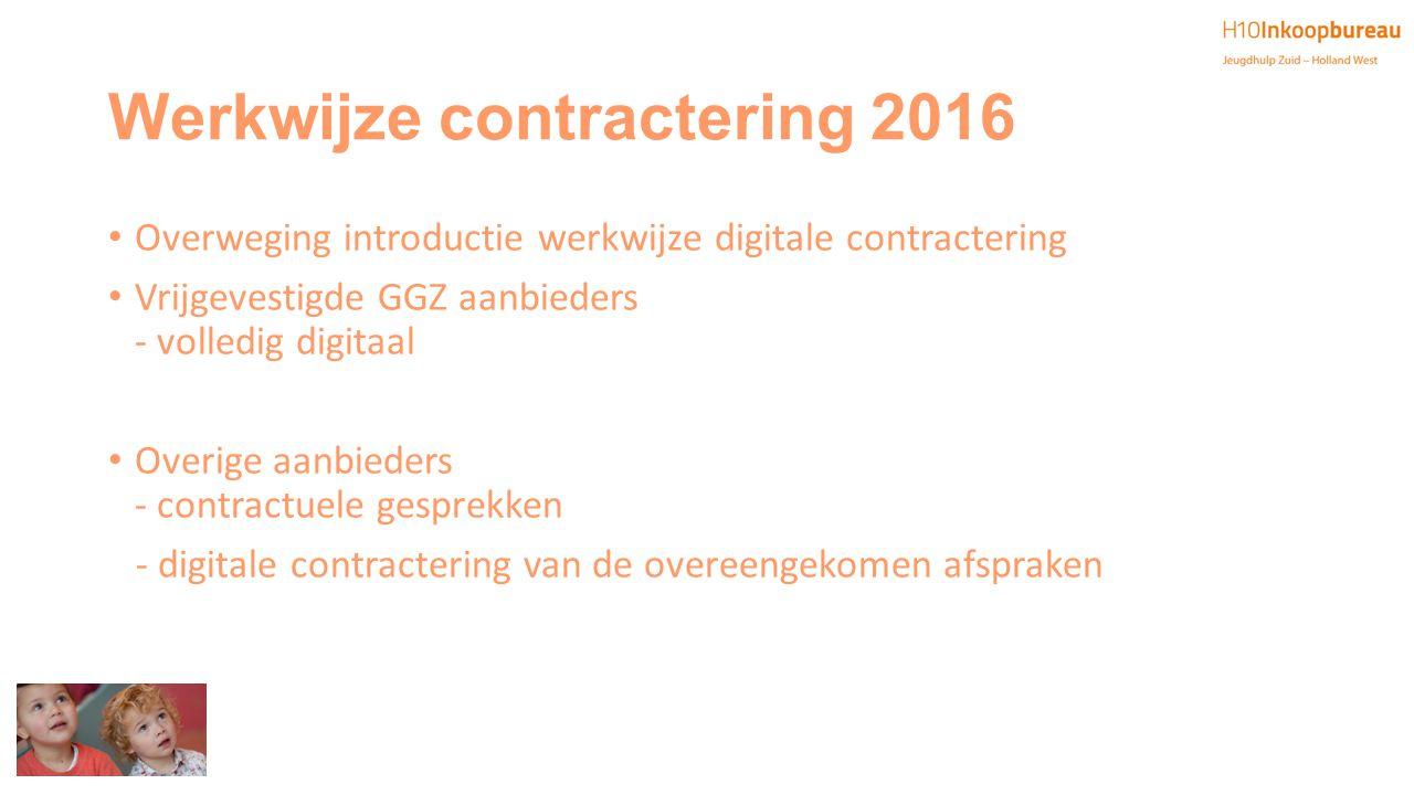 Werkwijze contractering 2016