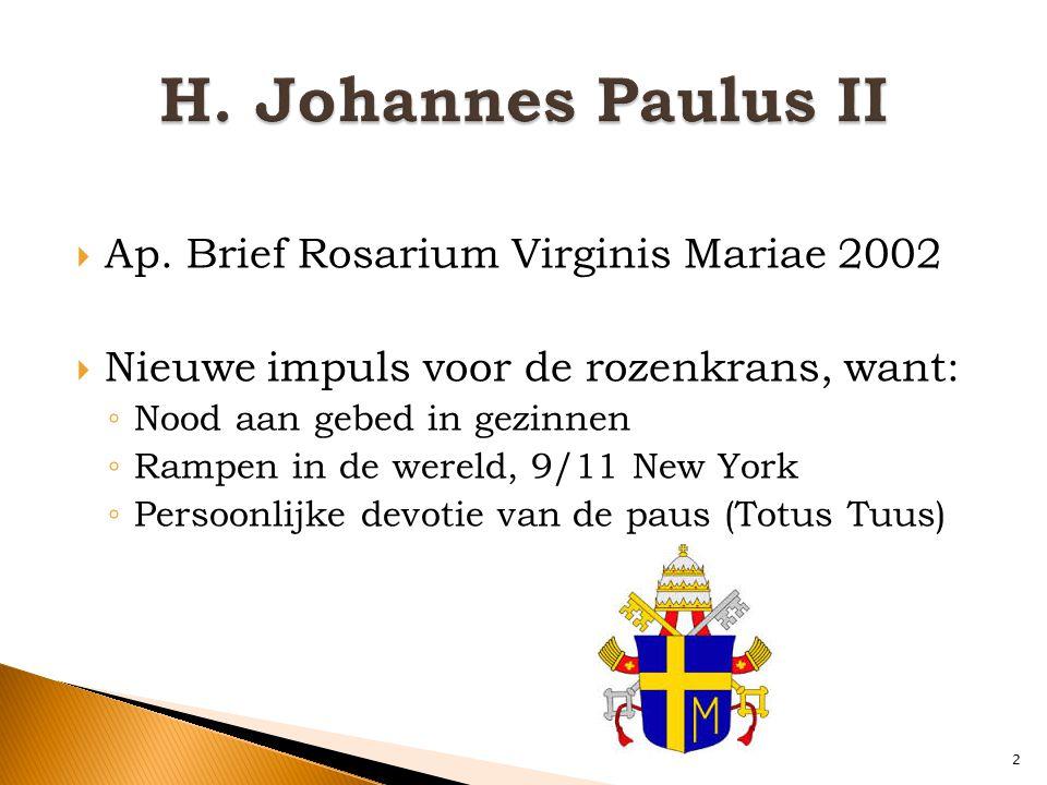 H. Johannes Paulus II Ap. Brief Rosarium Virginis Mariae 2002