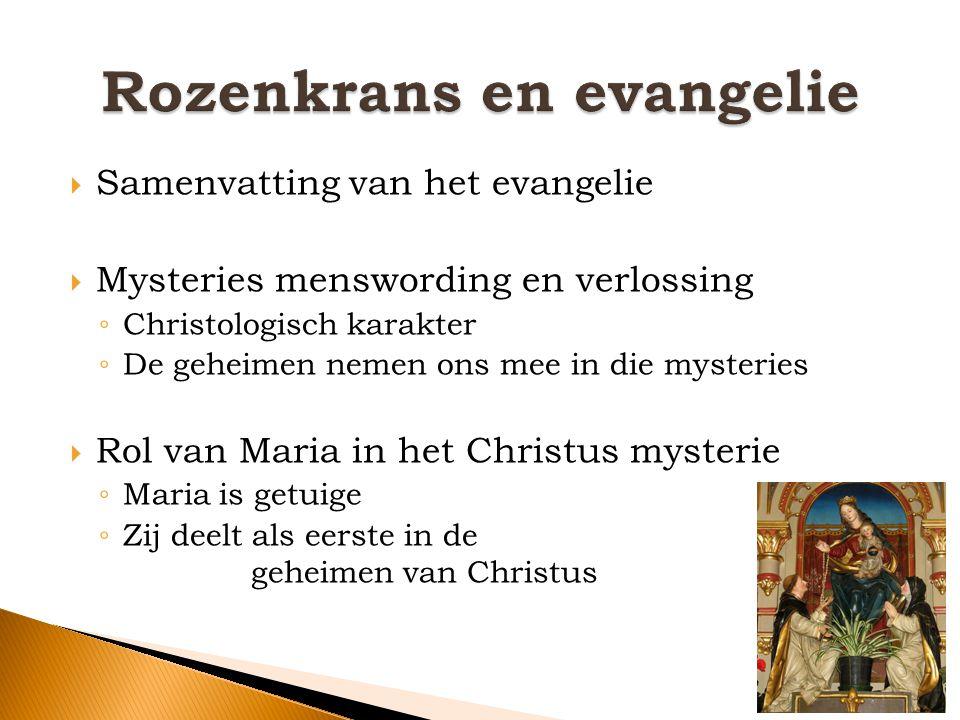 Rozenkrans en evangelie