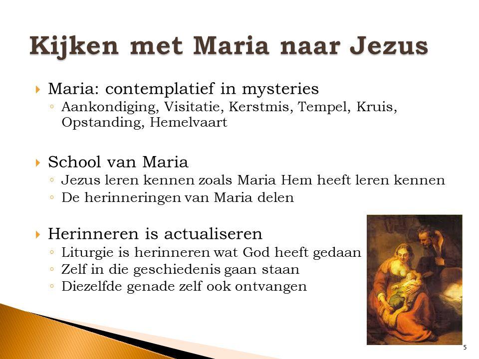 Kijken met Maria naar Jezus
