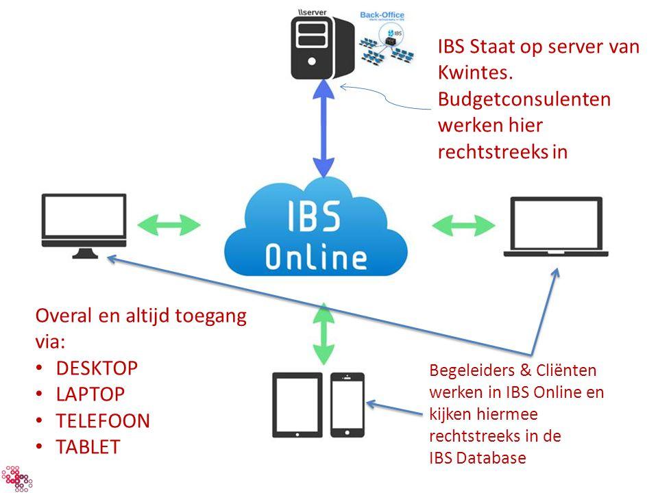 IBS Staat op server van Kwintes.