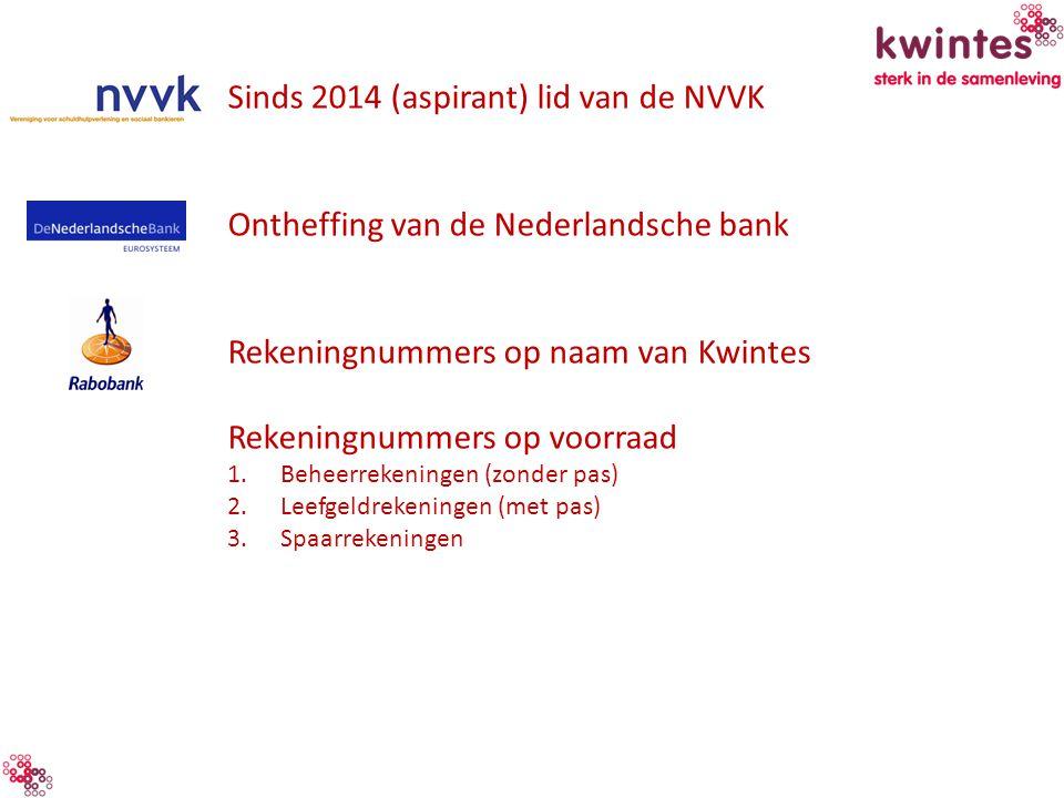 Sinds 2014 (aspirant) lid van de NVVK