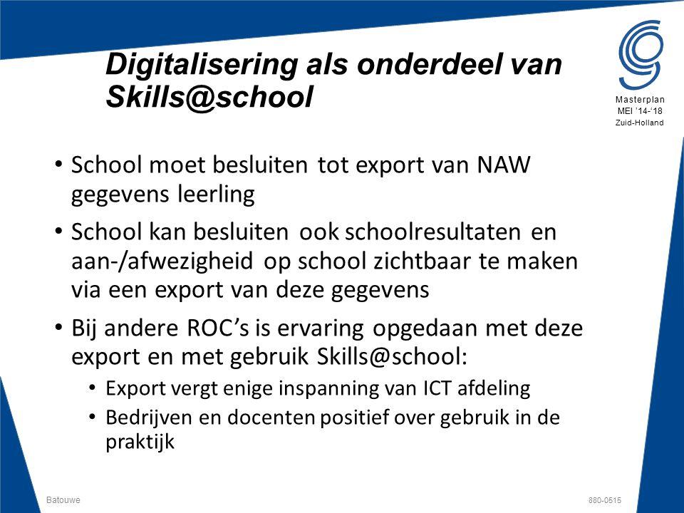 Digitalisering als onderdeel van Skills@school