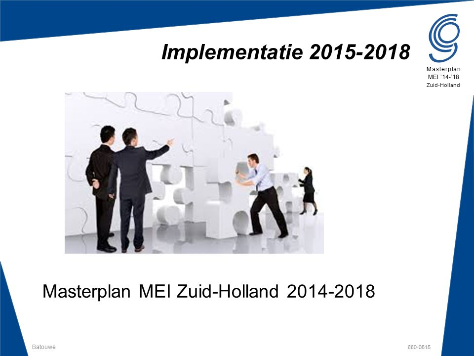 Masterplan MEI Zuid-Holland 2014-2018