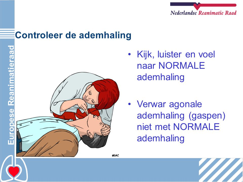 Controleer de ademhaling