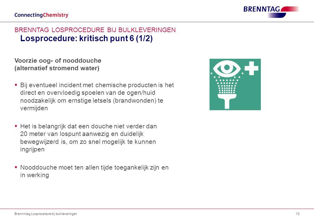 Losprocedure: kritisch punt 6 (1/2)