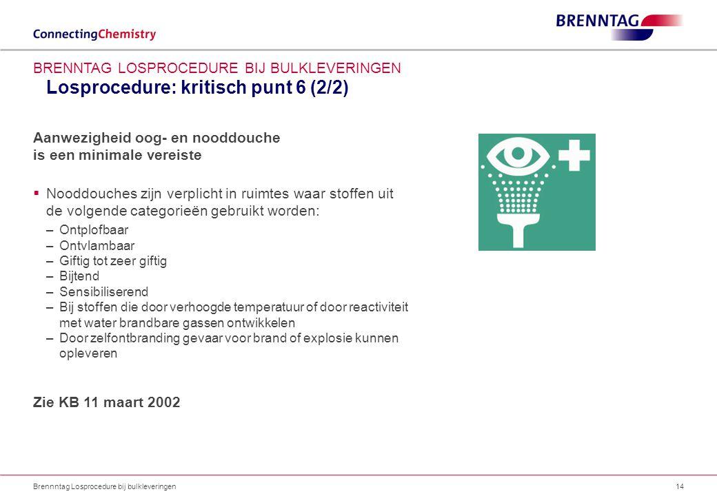 Losprocedure: kritisch punt 6 (2/2)