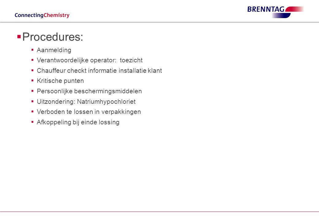 Procedures: Aanmelding Verantwoordelijke operator: toezicht