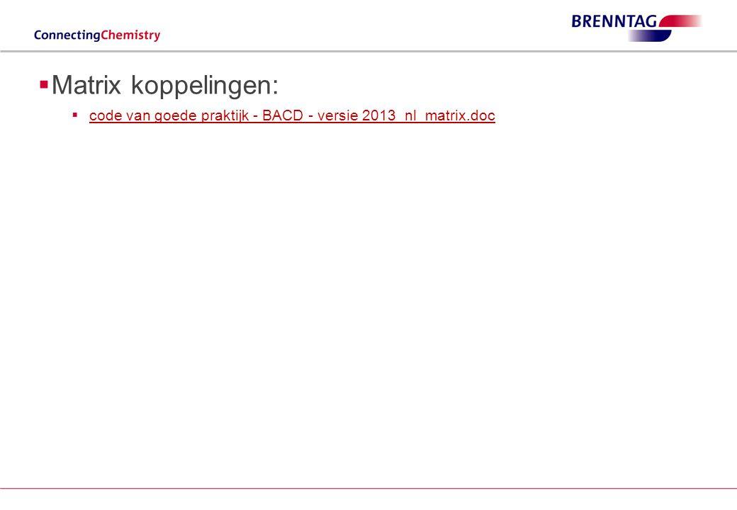 Matrix koppelingen: code van goede praktijk - BACD - versie 2013_nl_matrix.doc