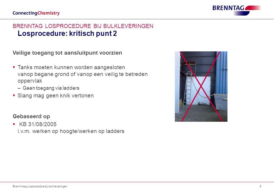 Losprocedure: kritisch punt 2