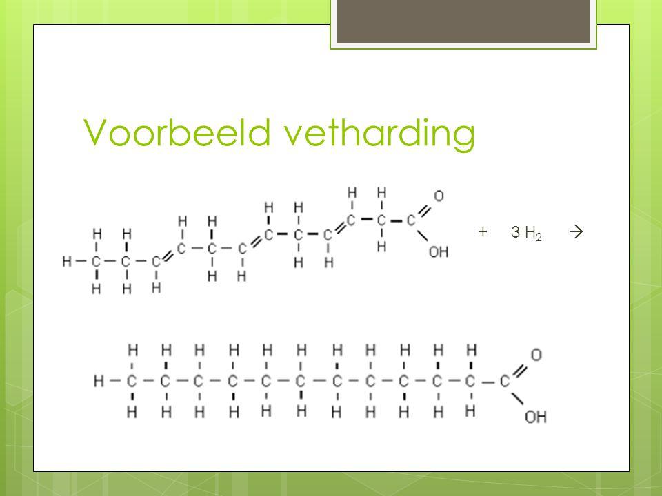 Voorbeeld vetharding + 3 H2 