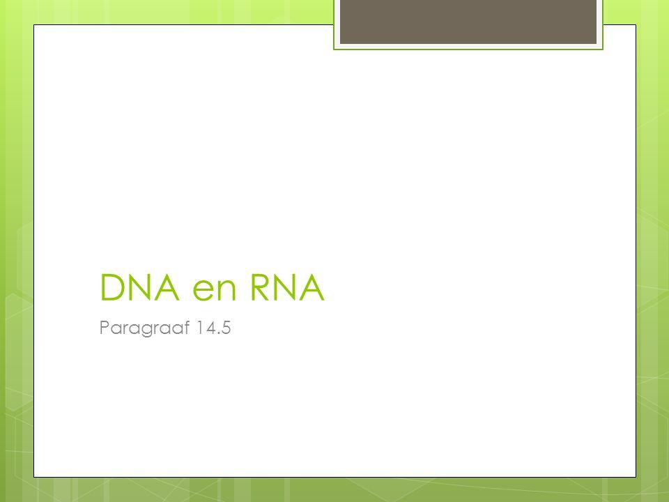 DNA en RNA Paragraaf 14.5