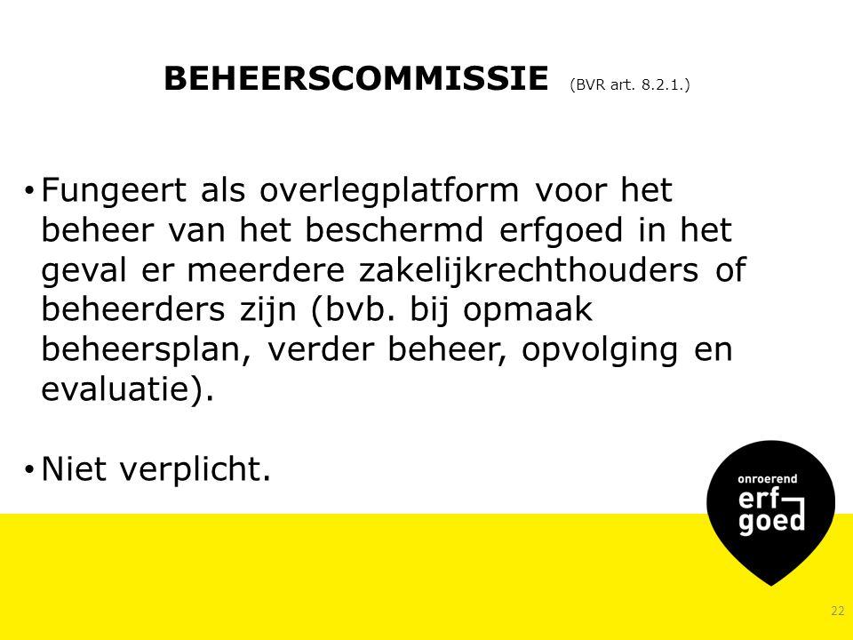 BEHEERSCOMMISSIE (BVR art. 8.2.1.)