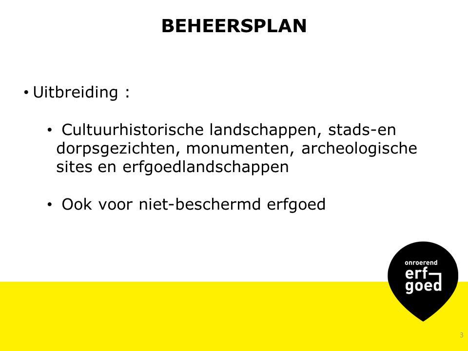 BEHEERSPLAN Uitbreiding :