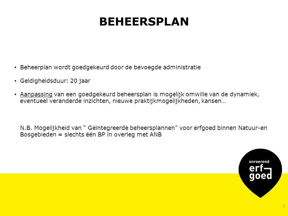 BEHEERSPLAN Beheerplan wordt goedgekeurd door de bevoegde administratie. Geldigheidsduur: 20 jaar.