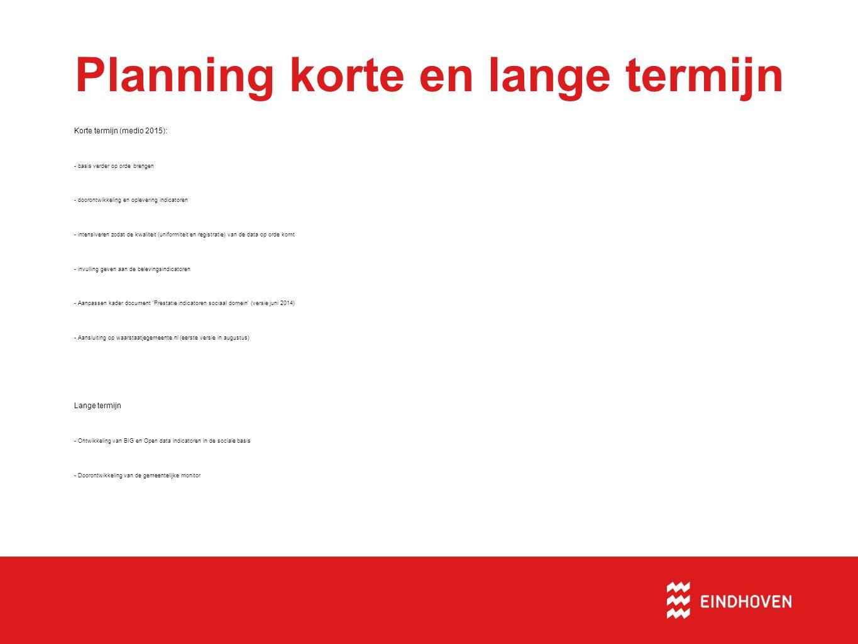 Planning korte en lange termijn