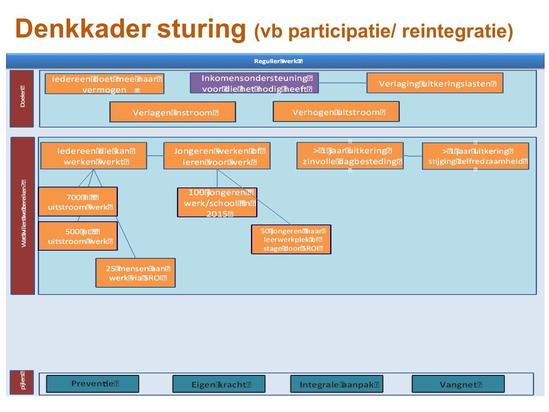 Denkkader sturing (vb participatie/ reintegratie)