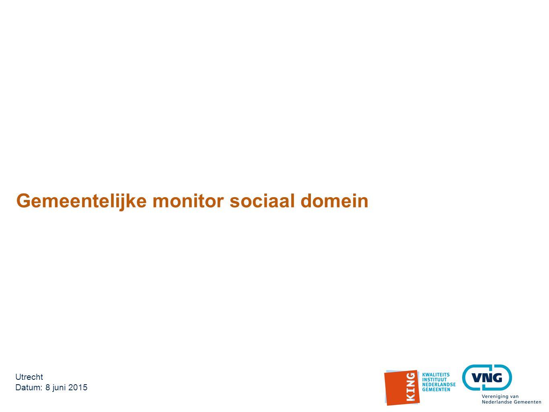 Gemeentelijke monitor sociaal domein