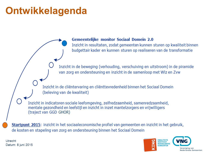 Ontwikkelagenda Utrecht Datum: 8 juni 2015