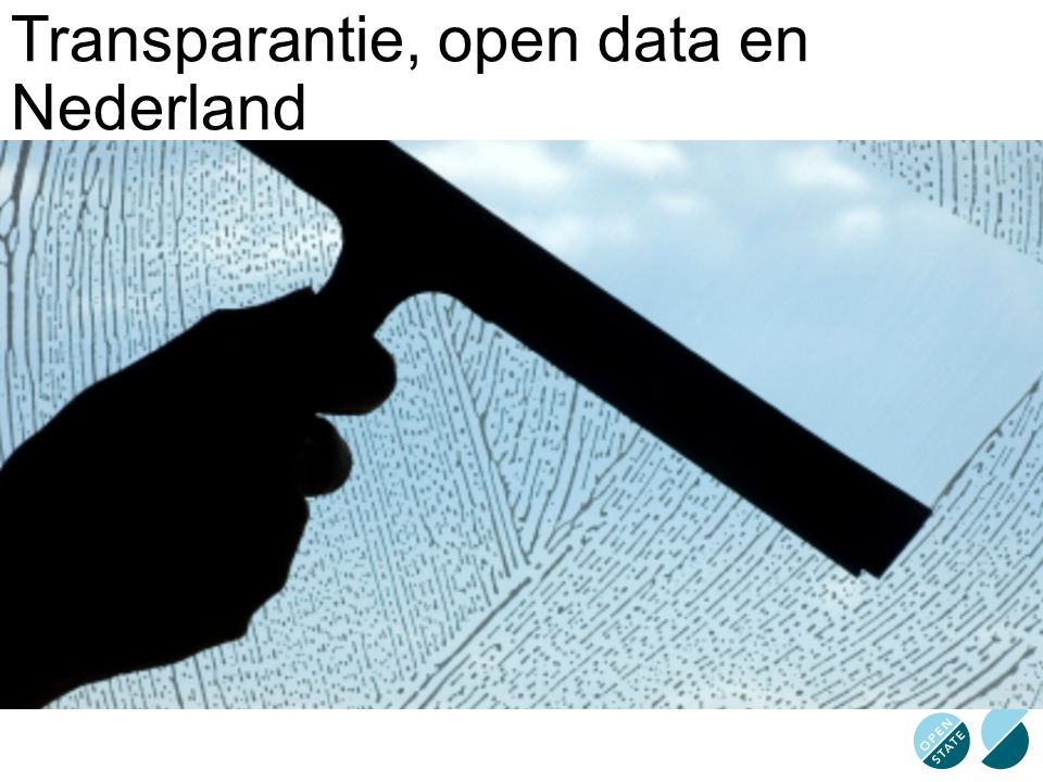 Transparantie, open data en Nederland