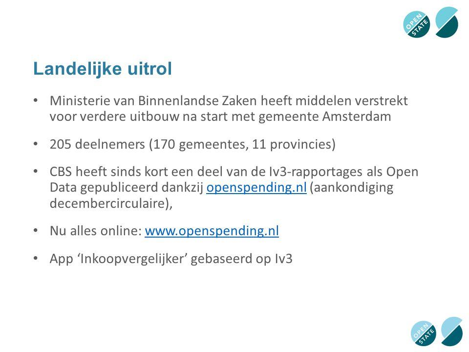Landelijke uitrol Ministerie van Binnenlandse Zaken heeft middelen verstrekt voor verdere uitbouw na start met gemeente Amsterdam.