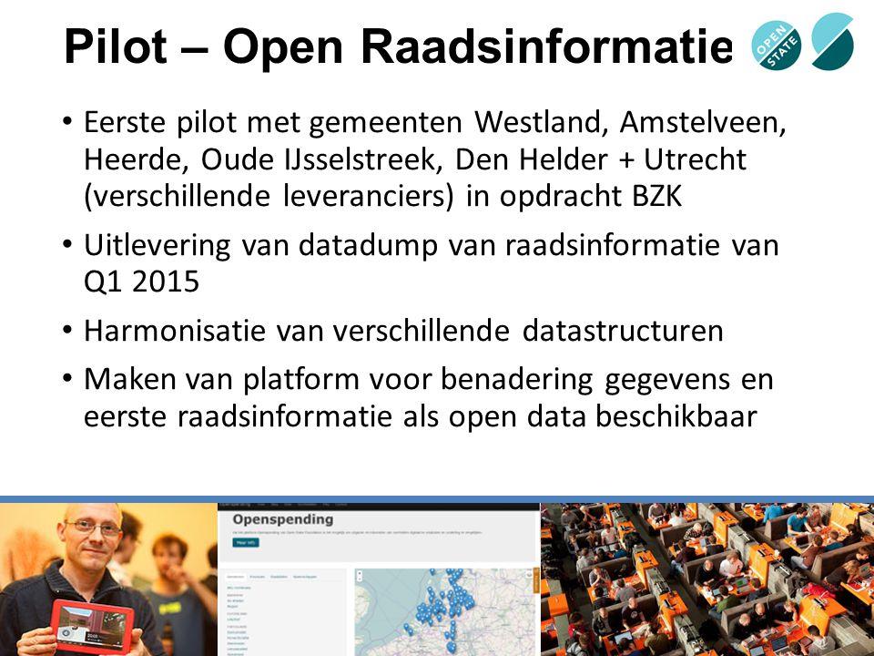 Pilot – Open Raadsinformatie