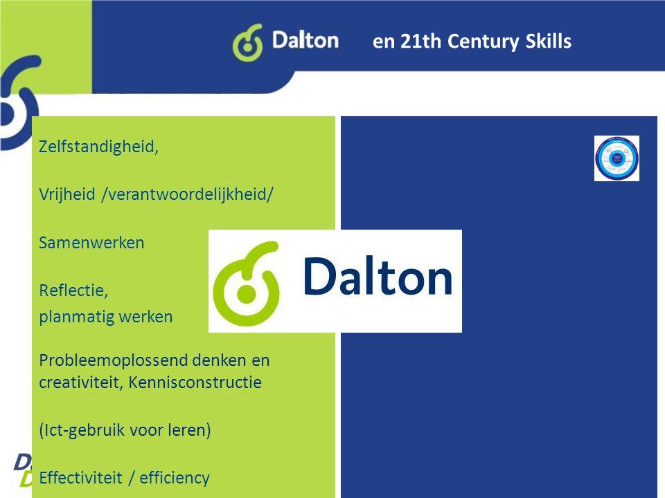 en 21th Century Skills Zelfstandigheid,