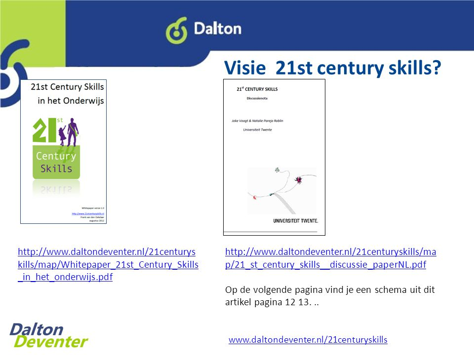 Visie 21st century skills