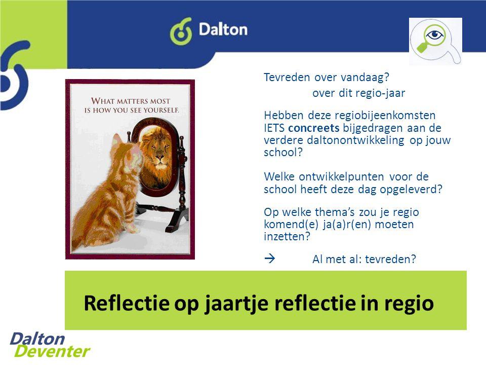 Reflectie op jaartje reflectie in regio